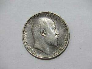 GREAT BRITAIN 1906 1 SHILLING KING EDWARD VII SILVER TYPE WORLD COIN 🌈⭐🌈