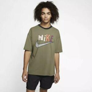 Nike Sportswear Men's T-Shirt Size Medium Olive/Black NSW