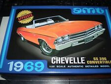 1969 Chevy Chevelle SS 396 Convertible AMT 823 1/25 New Model Kit