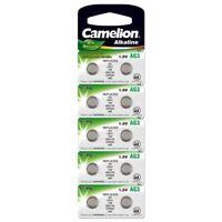 10x Knopfzellen AG3-LR41-SR41-392-736 Uhrenbatterie Alkali-Mangan von Camelion