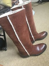 Moda In Pelle Knee High Brown Boots Size 5