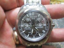TISSOT PRC 100 TITANIUM CHRONOGRAPH WITH DATE 100 M RUNNING WRIST WATCH