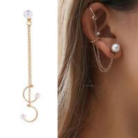 Women Fashion Earring Wrap Jewelry Punk Stud Cuff Clip Be Cartilage Crystal Ear