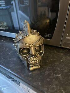 Gladiator Skull Head Rubber Latex Mould mold Gothic Garden Skeleton Spike Helmet