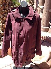 Burberry jacket dark red L