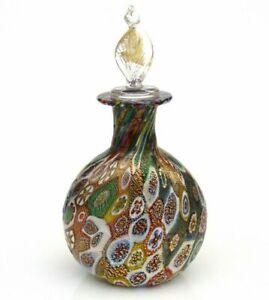 Fabulous Murano Art Glass Millefiori Murrine Perfume Bottle & Certificate