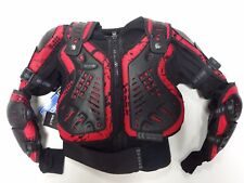 KIDS MOTOCROSS OFF ROAD QUAD BODY ARMOUR CE APPROVED CAMO RED AGE 8 YRS