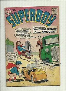 SUPERBOY #76  1959  DC COMICS  SILVER AGE 1ST SUPERMONKEY! SUPERBABY!