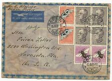 Switzerland Scott #B196 x4 #B198 x2 #B199 x2 on Air Mail Cover March 13, 1951