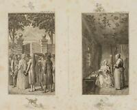 CHODOWIECKI (1726-1801). Clarissens Verhaftung & Im Gefängnis; Druckgraphik1