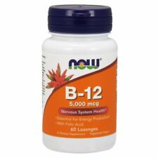 Vitamin B-12 60 Tabs 5000 mcg by Now Foods