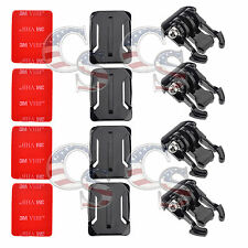 QD 8pcs Helmet Curved Surface Mount 3M VHB Sticker for GoPro HD Hero 4 3+ 3 2 1