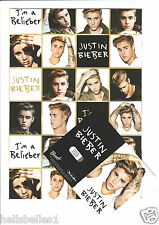 JUSTIN BIEBER 2 SHEETS OF GIFT WRAPPING PAPER & 2 GIFT TAGS**FREE 1ST CLASS P&P