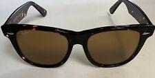 Ray-Ban RB2140 902/57 50mm Wayfarer Tortoise Frame Brown Lens Glasses