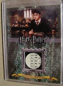 Harry Potter-HBP-Screen Used-Movie-Prop Card-Advanced Potion Making Book Pages