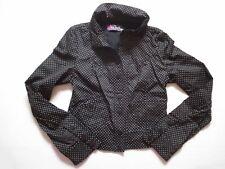 ZARA trf women's polka dot short jacket black colour yellow dots UK size M