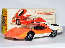 Dinky Toys 202 Fiat Abarth 2000 Orange/White Speedwheels Boxed