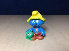 Smurfs 20403 Nat Smurfling Smurf Caterpillar Vintage Toy Figurine PVC Lot Figure