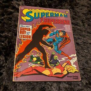 SUPERMAN 7. Superband, Ehapa Comicalbum mit Superboy+Legion,  ERSTAUFLAGE 1976