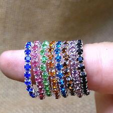 wholesale 50pcs mix lots women's rhinestone metal fashion finger rings Toe Ring