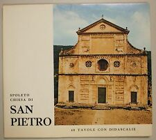 Di Marco Spoleto Chiesa SAN PIETRO 40 Tavole con Didascalie 1976 Casa Libro