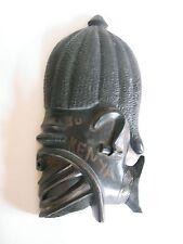 Ältere Holzmaske aus Afrika Ebenholz hand-geschnitzt 35 cm hoch