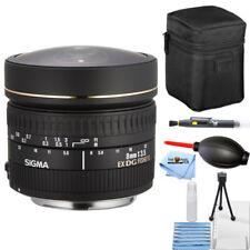 Sigma 8mm f/3.5 EX DG Circular Fisheye Lens (Nikon SLR Cameras) Starter Bundle