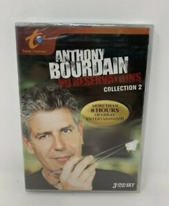 ANTHONY BOURDAIN NO RESERVATIONS Collection 2 NEW / SEALED 3 DVD Set