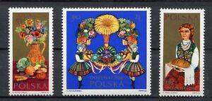 38453) Poland 1966 MNH Harvest Festival 3v Scott #1427/29