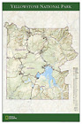 National Geographic: Yellowstone National Park Poster Wall Map (24 ... BOOK NEW