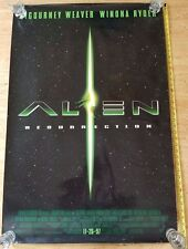 AUTHENTIC ALIEN RESURRECTION  POSTER Original Double Sided 27x40