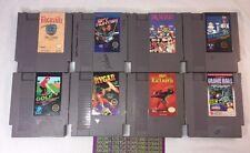 Lot of 8 Nintendo NES Games GYROMITE DR MARIO SPY HUNTER FAXANADU BLACK MANTA