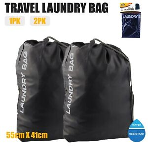 Travel Laundry Bag Water Resistant Sports Gym Clothes Organiser Drawstring Bags