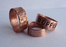 Arthritis Copper Ring stamped word Hammered comfy lightweight Arthritic healing