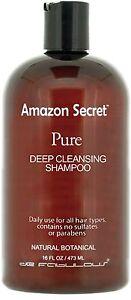 shampoing Technique Pure avant lissage brésilien Amazon Secret 472 ml