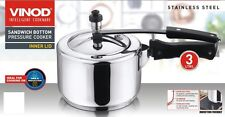 VINOD Stainless Steel Induction Pressure Cooker 3L (Inside Fitting Lid)