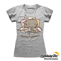 Official Pusheen The Cat Purrfect Weekend Ladies T-Shirt