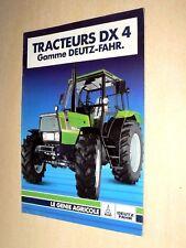 Prospectus Tracteur DEUTZ DX4 Gamme brochure tractor Traktor Trattore Prospekt