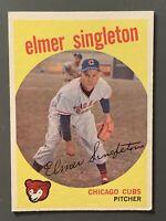 1959 Topps #548 Elmer Singleton High Number VGEX-EX Chicago Cubs
