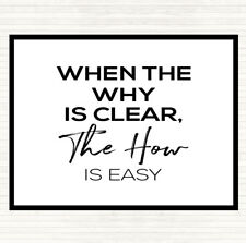White Black The How Is Easy Quote Mouse Mat Pad