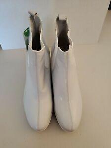Rockport Womens Lorraine Rain Boot Hydro-Shield White Size 9
