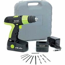 Cordless Drill Set Kit With Battery And Charger 19 Volt 20 Piece Hand Tools