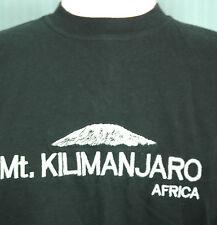 Mt Kilimanjaro Small Black Embroidered T-Shirt (Mount Africa Climb Climbing)