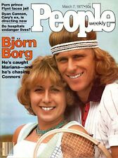Tennis Superstar BJÖRN BORG + Larry Flynt  March 7, 1977  PEOPLE WEEKLY magazine