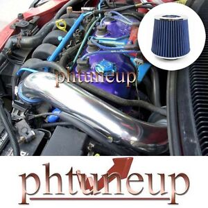 BLUE 1995-1999 DODGE PLYMOUTH NEON 2.0 2.0L L4 AIR INTAKE KIT SYSTEMS + FILTER