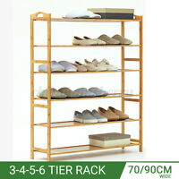 Shoes Bookcase Plant Flower Bamboo Shelf Stand Rack Storage Wooden Organise