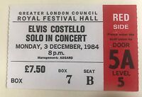 Elvis Costello - UK Concert Ticket Stub 1984