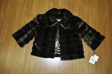 Calvin Klein Brown Cropped 3/4 Sleeve Stylish Bolero Jacket Coat  .NWT Sz. M