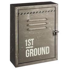 Boîte à Clés Métallique Vintage Industriel   Armoire Décoration Rangement Porte