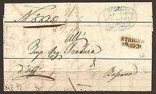 AUSTRIA / ITALY / TYROL. 1850. ENTIRE. STRINGNO TO BASSANO. STRIGNO CANCEL & BLU
